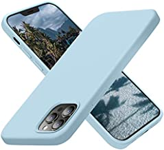 Cordking Compatible with iPhone 12 Pro Max Phone Case, Silicone Ultra Slim Shockproof Phone Case with [Soft Anti-Scratch Microfiber Lining], 6.7 inch, Sky Blue