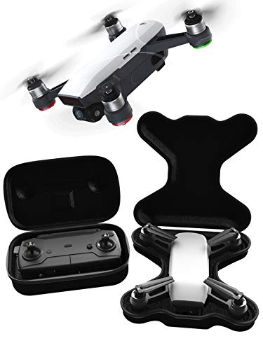 GoScope SPARK GO CASE - compact hardshell case - DJI SPARK & CONTROLLER - Adventure/Travel Case (features belt straps for easy hands-free carrying) DJI SPARK {SLIMLINE WATER-RESISTANT NYLON HARD CASE}