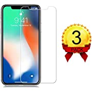 [3 Pack] iPhone Xs/X Glass Screen Protectors Live2Pedal iPhone Xs/X Tempered Glass Screen Protector [3D Touch] [9H Hardness] [No Bubble] Compatible with iPhone Xs/X[5.8 Inch]
