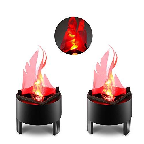 AJDGL Artifical LED Fire Flame Light, 3D Realistic Silk Fire Campfire Centerpiece Flame Lightning for Festival Party Decoration,A,2PCS
