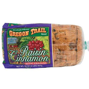 Oregon Trail Bread, Raisin Cinnamon w/ Vanilla 32 oz. (pack of 4) A1