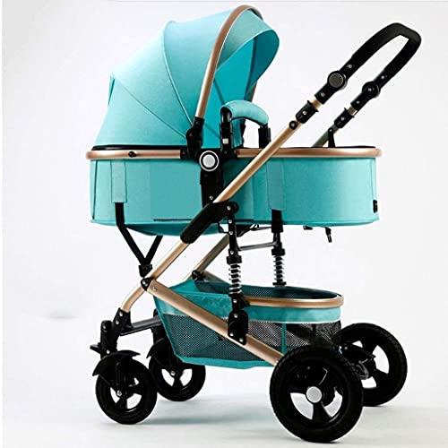WDCC Cochecito de bebé Cochecito portátil y Ligero Cochecito de Viaje Asiento Plegable para niños pequeños Cochecito Cuna Convertible Portavasos reclinable y Cubierta para los pies Carro de bebé