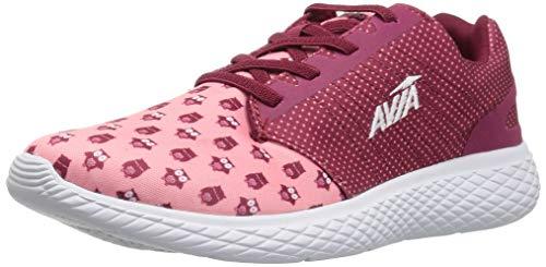 Avia Girls' Avi-Kismet Sneaker, Plum Pink/Crayon/White, 3 Medium US Little Kid