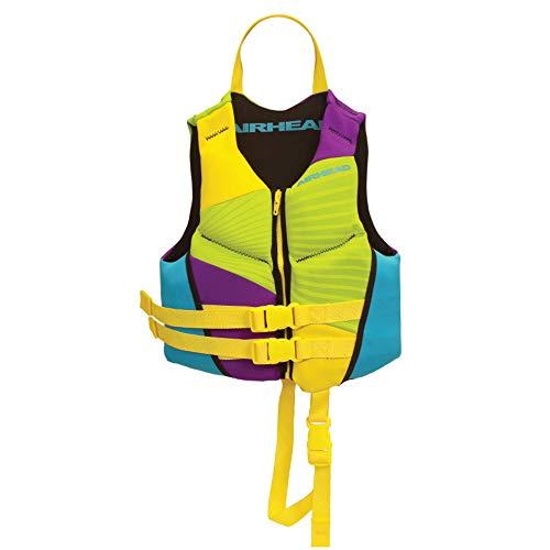 Airhead Children's GNAR Kwik-Dry NeoLite Flex Life Vest, Multicoloured