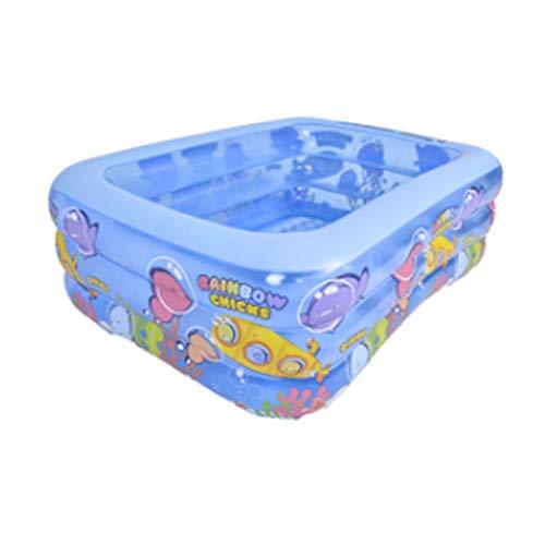Kinderzwembad, rechthoekige familiezwembaden, opblaasbaar zwembad voor kinderen, afmeting 125x90x52cm