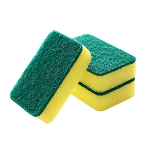 wkwk Toallitas de esponja para lavar platos,suministros de cocina,multifuncional limpieza del hogar descontaminación doble cara fregar almohadilla cepillo de lavado