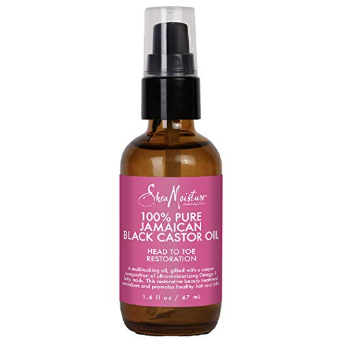 Sheamoisture Head To Toe Oil and Hair Oil for Dry Hair and Skin Jamaican Black Castor Oil Paraben Free Hair Oil, Body Oil 1.6 oz