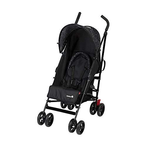 Safety 1st Slim Buggy, leichter und zusammenklappbarer Kinderbuggy mit Sonnenverdeck, nutzbar ab 6 Monate - ca. 3,5 Jahre (0-15 kg), schwarz/weiß gepunktet