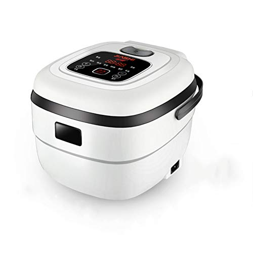 RHSMW Elektroherd, Kleiner Automatischer 2,5-Liter-Reiskocher, Mini-Dampfgarer Für 1-4 Personen, Multifunktionaler Tragbarer Mini-Kochtopf,Weiß