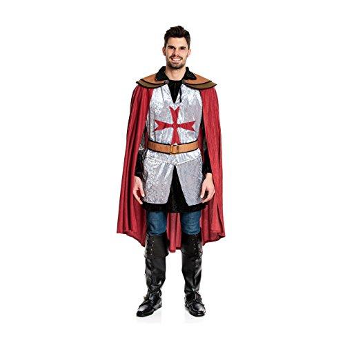 Kostümplanet® Ritter-Kostüm Herren Deluxe Tempel-Ritter Faschingskostüm Größe 56/58