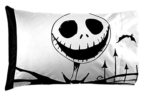 Jay Franco Nightmare Before Christmas Together 1 Pack Pillowcase - Double-Sided Kids Super Soft Bedding (Official Product)