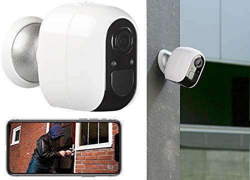 VisorTech bewakingscamera: IP-bewakingscamera, full HD, WLAN & app, werkt op batterijen, IP54 (wifi-camera)