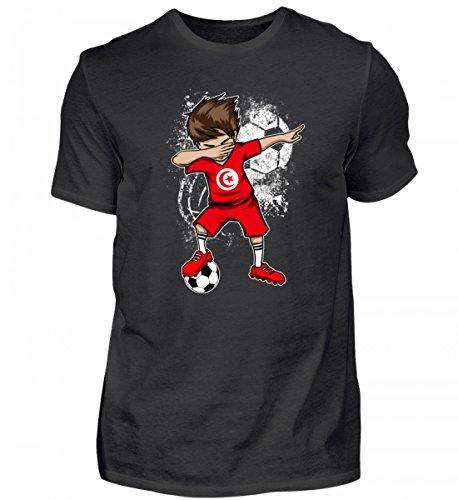 Hochwertiges Herren Shirt - Dabbender Fußballer Junge - Tunesien/Fußball Trikot/Nationalmannschaft/Geschenk WM