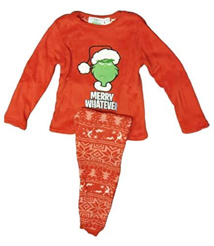 Pijama unisex de The Grinch Kid's PJ para niños y niñas,