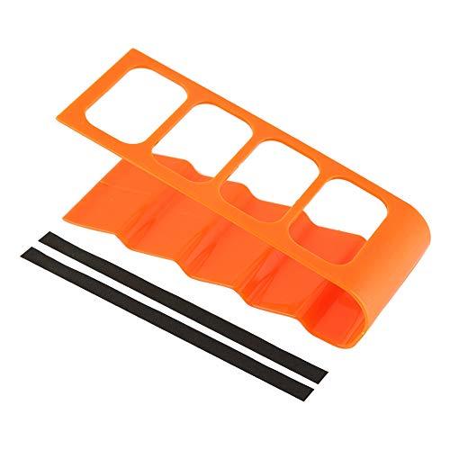 Acouto Supporto per Telecomando, Telefono da Tavolo in Plastica VCR Dvd TV Step Supporto per Telecomando Organizer per Rack di Stoccaggio(Arancio Brillante)