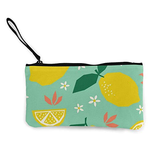 Canvas Coin Purse,Coin Purse for Women Seamless Pattern Cats and Yarns Change Purse,Change Purse for Coins