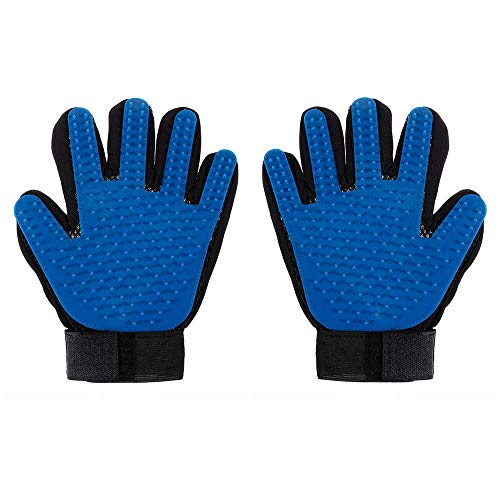 YITON Pet Comb Blue 2 Pairs Pet Soft Silicone Glove Dog Cat Grooming Hair Deshedding Brush Comb Animal Hair Removal Glove