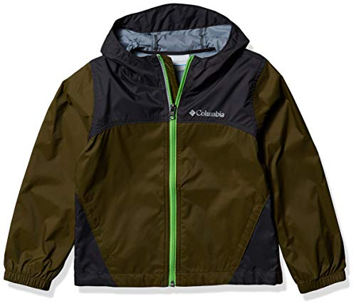 Columbia Boys' Toddler Glennaker Rain Jacket, Waterproof & Breathable, New Olive/Shark, 2T