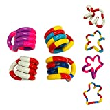 A/C 4PCS Stress Relief Feeling Winding Toy, Creative Finger Hand Tangles Hand Eye Coordination Toy, Twisted Decompression Toy, Anti Stress Sensory Toys para Adultos, Niños, Autismo