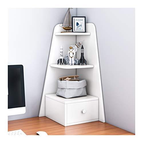 Librería Salon 3 niveles de escritorio Esquema Librería con 1 cajón estantería de oficina Material de oficina Oficina de madera Organizador accesorios Pantalla de accesorios Estantería Decorativa