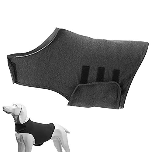 Antistressweste Für Hunde, Hunde-Jacke Mit Angstzustände Weich Atumungsaktiv Comfort Hundemantel für Hunde und Katzen Angst Linderung Beruhigende Stress Mantel (Grau, M)