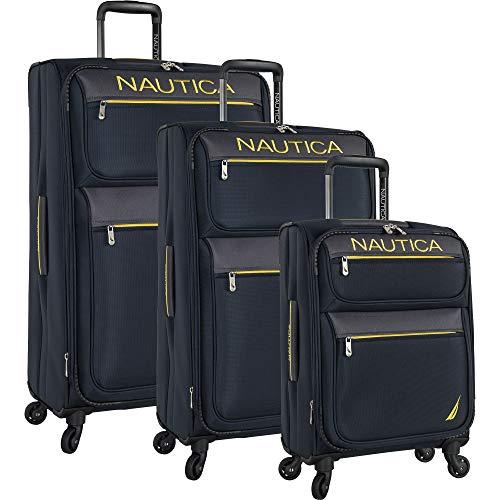 Nautica Luggage, Navy Yellow, 3 Piece