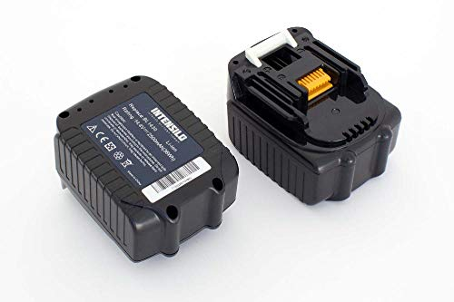 INTENSILO 2 x Li-Ion Battery 2500 mAh (14.4 V) Suitable for Power Tools Makita TW152DRFX, TW152DZ