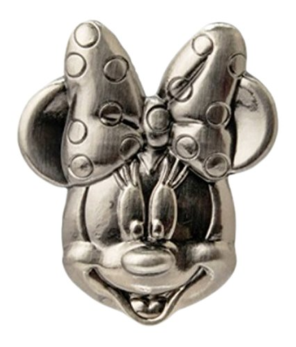 Disney Minnie Head Pewter Lapel Pin