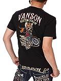 (バンソン) VANSON トムとジェリー コラボ ベア天竺 半袖 Tシャツ 刺繍 TJV-2021 ブラック S