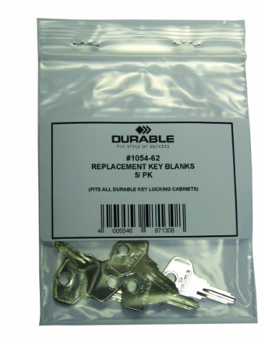 DURABLE Key Blanks for Key Cabinets, Silver, 5-Pack (105462)