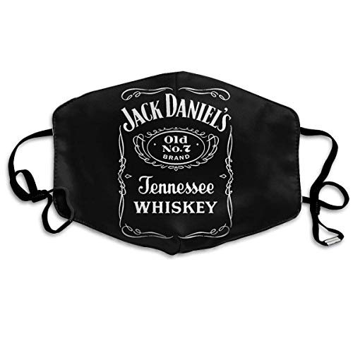 Mundschutz Face Cover Mouth Cover Unisex Reusable Nose Mouth Cover with Jack Daniels Men's Daniel's Label Mouth Cover with Adjustable Earloops Face Decorations