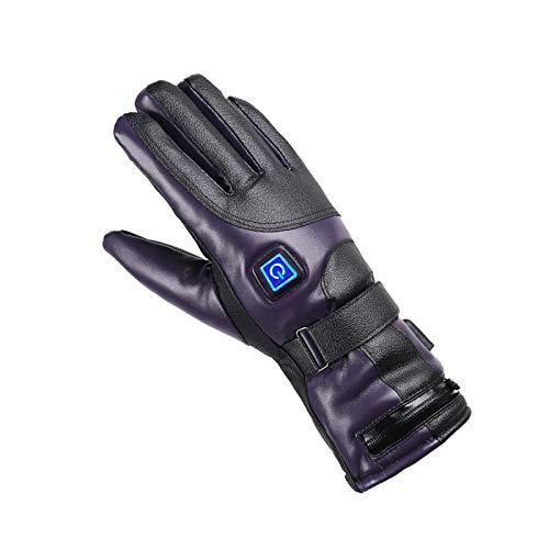 Tmpty Guante Calefactor para Hombres Mujeres Batería Recargable Calentador De Manos A Prueba De Agua para Deportes Caza Al Aire Libre Ciclismo Senderismo Pesca (Color : Purple, Power : 4000W)
