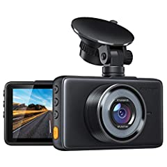 1080P FULL HD DASH CAM - Simultaneous recording with Super High Resolution 1080P FHD Lens, and 3 inch large LCD Screen deliver clearer videos&images and replay the key moment even when high speed driving. 170° SUPER WIDE ANGLE - This car driving reco...
