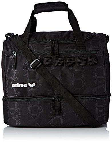 erima Sporttasche mit Bodenfach, Schwarz, 40 x 25 x 34 cm, 40 Liter, 723582