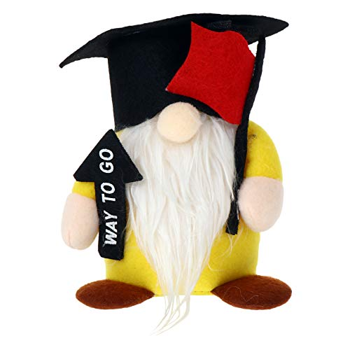STOBOK Navidad de La Graduación Decoraciones de Enanos Elfo de Peluche con Forma de Gorro de Graduación con Muñecos Suecos de Tomte Escandinavo Adornos Regalos para Fiesta de Graduación