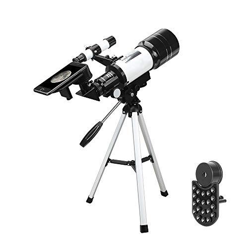 TASGK Teleskop, Tragbarer 15-140X Astronomisches Teleskop mit Smartphone Kamera Adapter Reflektor Teleskop Spiegelteleskop mit Stativ für Erwachsene Kinder und Anfänger zur Beobachtung von Mond