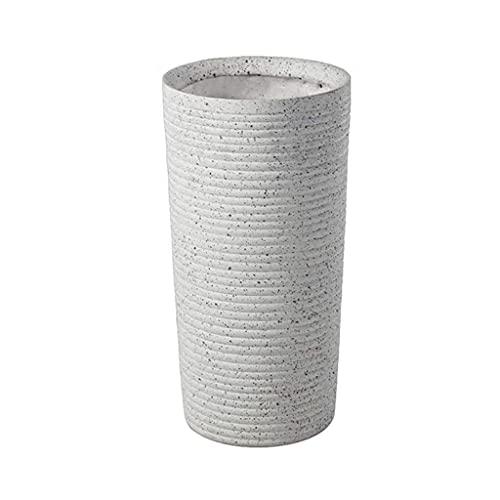 TTOOY Paragüeros de Oficina Paragüero Oficina Papelera de Almacenamiento de cerámica Hotel Home Bank Blanco 22 * 26 * 51cm