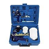 Pistola de pulverización de aire, con boquilla de 0,8 mm / 1,4 mm, pulverizador de pintura duradero Kit de herramientas de pintura con aerógrafo...