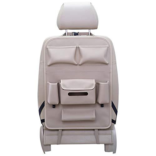 Bolsa de almacenamiento de asiento trasero de coche, respaldo multifuncional antipatada para tabletas, tejidos, aperitivos, tazas, documentos