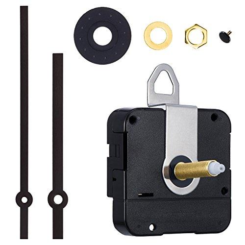 Mudder 31 mm Lang Shaft Quarz Uhrwerk DIY Uhr Reparatursatz (Schwarz)