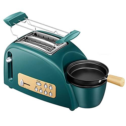 Máquina De Desayuno Tostadora Multifuncional 1200W Con Mini Sartén Y Plato De Cocción Al Vapor, Máquina De Desayuno Multifuncional Para Tostadas A La Parrilla Calentar Pan Huevos Hervidos Pa