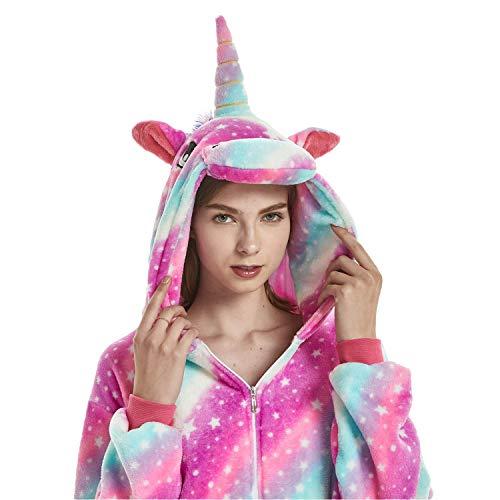 Animal Cosplay Costume Adulte Licorne Onesie Pyjamas Avant Fermeture Éclair Cosplay Vêtements De...