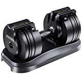 50lbs Adjustable Weights Dumbbell Set for Home Gym, Strength Training, Core Fitness, 6.5lbs to 50lbs...
