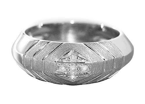 Designerring witgoud 585 met briljante ring witgoud briljantring goud 14 kt hobra-goud