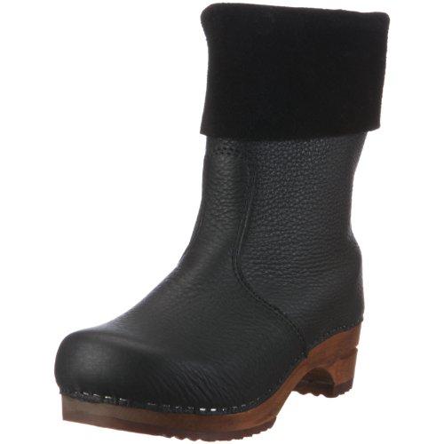 Sanita 'Alison' Roll-top Clog Boots in Black (Art:454444) - 39