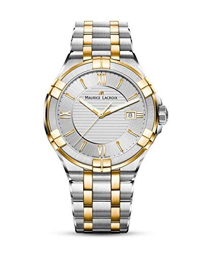 Maurice Lacroix Herren Analog Quarz Uhr mit Edelstahl Armband AI1008-PVY13-132-1