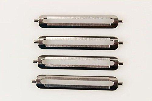 TUPPERWARE Schäler Ersatzklinge für Schälfix (4) D82 Flachschliff Profischäler