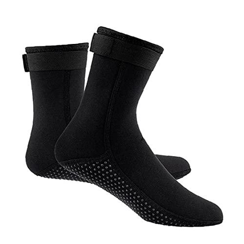 MaylFre Buceo Calcetines Antideslizante térmica Traje de Natación Calcetines Calcetines 3MM para Deportes acuáticos Aletas Calcetines Negro (L) Las Necesidades diarias duraderos