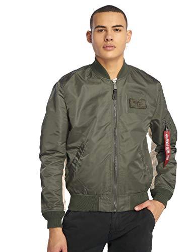 ALPHA INDUSTRIES Herren Ma-1 Tt Custom Jacke, Vintage Grün, M