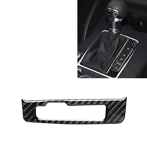Baocy Kohlefaser-Abdeckleiste, Auto-Carbon-Faser-Gangschaltung Rahmen dekorative Aufkleber for Audi A3 / 8V 2014-2019, rechts Drive, Carbonfaser-Autodekoration Teile